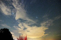 Mysterious faces in the night clouds (v.boldychev) Tags: mysterious mystery mystical mystic sky cloud constellation taurus night face profile woman man male female starry star fuji xe2 landscape dark contrast lights germany cluster pleiades reddish blue white