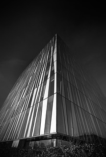 corner into the sky, black & white fine art, Sr Duncan Rice Library, University of Aberdeen, Aberdeen, Scotland