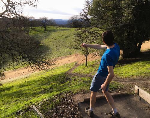 Disc golf at Napa Skyline