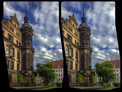 Stadtschloß Dresden 3-D / CrossView / Stereoscopy / HDR / Raw (Stereotron) Tags: saxony sachsen dresden elbflorenz residenz stadtschlos castle architecture barock baroque europe germany crosseye crosseyed crossview xview cross eye pair freeview sidebyside sbs kreuzblick 3d 3dphoto 3dstereo 3rddimension spatial stereo stereo3d stereophoto stereophotography stereoscopic stereoscopy stereotron threedimensional stereoview stereophotomaker stereophotograph 3dpicture 3dglasses 3dimage hyperstereo twin canon eos 550d yongnuo radio transmitter remote control synchron kitlens 1855mm tonemapping hdr hdri raw