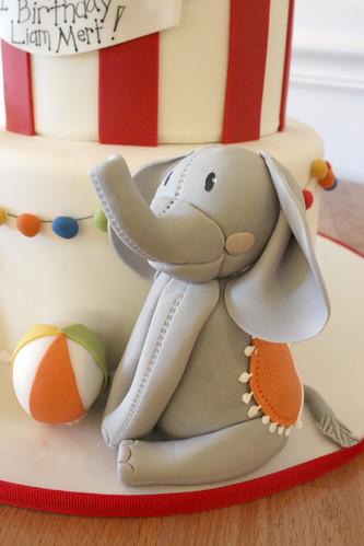 Circus Elephant Figurine Cake