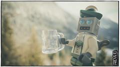 PR0S1T! (Priovit70) Tags: lego minifigures robot mug mountains winter snow mechamonday samsunggalaxys7