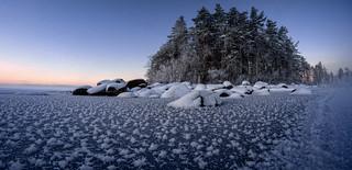 Frosty ice world