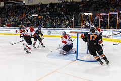 """Kansas City Mavericks vs. Cincinnati Cyclones, February 2, 2018, Silverstein Eye Centers Arena, Independence, Missouri.  Photo: © John Howe / Howe Creative Photography, all rights reserved 2018. • <a style=""""font-size:0.8em;"""" href=""""http://www.flickr.com/photos/134016632@N02/39407203194/"""" target=""""_blank"""">View on Flickr</a>"""