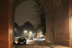 Cray Valley,17 (doojohn701) Tags: streetlighting arch architecture car raining tree buildings crayvalley uk dusk viaduct