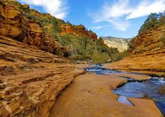 Oak Creek, Sedona, AZ (ArmyJacket) Tags: sedona arizona oakcreek slidingrock creek rocks mountains water river canyon sky desert nature landscape outdoors