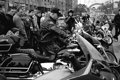 Lenin (Alexander Oleynik) Tags: motorcycles street people kyiv bw bike blackandwhite canon arche view road khreshchatyk ukraine