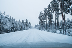 On the road again... (mikper) Tags: snö vinterväg hemresa vemdalen väg härjedalen vinter skodasuperb