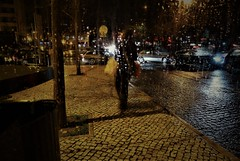 looking for the rain to fall (*F~) Tags: lisboa lisbon portugal throughtheglass rain night nocturne people traffic benfica music listening emotion