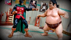 Papirhaven 1308 (MayorPaprika) Tags: 112 custom diorama toy story paprihaven action figure set 80s 90s sumo chankonabe dcdirect drmidnite universe lgv20 lgvs995 karate kungfu dojo drsteel martialarts weaponracks