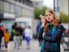 (graveur8x) Tags: woman candid street portrait frankfurt germany deutschland zeil blond colours dof frau mobilephone cellphone strase streetphotography canon canoneos6d canonef135mmf2lusm 135mm ff ffm people outdoor outside human