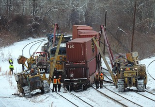 CSX Train Derailment Cleanup, Connellsville, PA