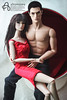 Cedric and Lilith (astramaore) Tags: astramaore rock ringmaster lukas maverick male model ball chair brunet brunette integritytoys fashionroyalty fashiondoll dollphotography doll chic beauty glam rocking ever affair lilith
