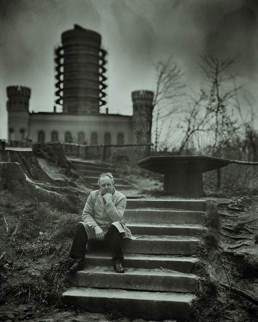 Analog Archive: Jagdschloss Granitz mit Hausmeister, Rügen, DDR, 1989, 8/10