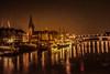 Bremen zur Nachtzeit (videamus) Tags: freie hansestadt bremen deutschland kirche weser schiffe schlachte brücke church germany lichter martinianleger martini