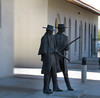 Doc Holliday/Wyatt Earp statue, Southern Arizona Transportation Museum (Dan_DC) Tags: tucsonarizona publicart statue bronze dochollidayandwyattearp sheriff downtown amtraktucsonstation depot rifle guns