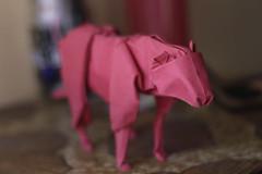 Lioness (Jose_Herrera_B) Tags: joseherreraorigami origami origamidesign origamisculpture origamilioness origamiart foldedpaper paper cansonpaper paperart