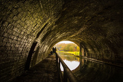 Light At The End Of The Tunnel (williamrandle) Tags: winter nethertontunnel netherton bumblehole dudleyno2canal canal warrenshallpark westmidlands england uk 2018 waterways towpath water reflections lightandshade bricks structure nikon d7100 outdoors sigma 1835 f18 art