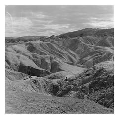 Death Valley, Zabriskie Point (mrnalepa) Tags: mediumformat yashica mat124 analog analogisnotdead ilford hp5 kodak d76 blackandwhie nevada arizona califorania unitedstates desert landcape beautiful trip selfdeveloped