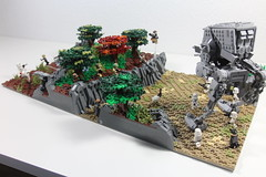 LEGO Star Wars | The Battle of Yavin 4 MOC (Izavagooba) Tags: lego star wars battle yavin 4 moc izavagooba rockwork rock work iv