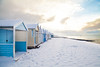 Thorpe Bay Beach Huts in the Snow (Dave Denby) Tags: thorpe bay beach huts snow southend essex seaside