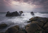 La fuerza del mar.... (protsalke) Tags: rocks sea tide water seascape landscape clouds colors bolonia cadiz andalucia playa nikon lights waves sunset nubes