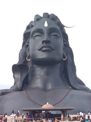 Adiyogi statue (Nandu Genius) Tags: adiyogi lordshiva ishayoga coimbatore velliangirihills