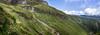 Skirting the volcano (loveexploring) Tags: aroundthemountaincircuit hollyhuttrack mountegmont mountegmontnationalpark mounttaranaki newzealand northisland taranaki backpacker cliff cloud hiker hiking hikingtrail landslide mountain panorama person sky slope track trail tramper