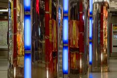 U-Bahn-Station Jungfernstieg (p.schmal) Tags: olympuspenf hamburg ubahnstation jungfernstieg blau spiegelungen