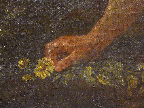 POUSSIN Nicolas,1627-28 - Le Triomphe de Flore (Louvre) - Detail 047