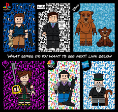 What Series Would You Like Me To Do Next? Vote with the link Below! (Ashnflash98) Tags: lego disney playstation sora kingdom hearts nbc seinfeld office michael scott uncharted nathan drake mr monopoly hasbro games ashnflash cmf cmfseries minifigure brother bear jerry