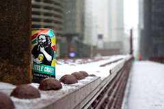 A Little Crazy (Andy Marfia) Tags: chicago loop statest bridge snow winter beer can revolutionbrewing d7100 1685mm 1125sec f45 iso100