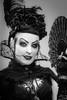 MeraLuna_2017 (12.1) (uwesacher) Tags: bw sw musikfestival female mèraluna einfarbig monochrom hildesheim flughafen niedersachsen porträt schleier fascinator kopfschmuck rosen lady tüll fächer gothic vampire