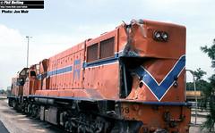 J597 DB1584 Collision damage Forrestfield (RailWA) Tags: railwa joemoir philmelling westrail db1584 collision damage forrestfield