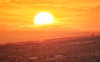 A Star Explodes (henriksundholm.com) Tags: sun sunset sunlight star doubleexposure landscape nature red orange burn burning fire nuclear sky clouds mountain horizon color alicante spain espana hdr
