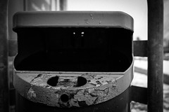 (heinrichj) Tags: trash trashcan container müll monochrome black bw rubbish garbage waste wasteland wastetales recycle recycling fujifilm fujix fujinon