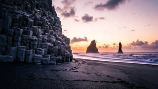 Sunrise in Reynisfjara Beach - Iceland - Travel photography