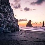 Sunrise in Reynisfjara Beach - Iceland - Travel photography thumbnail