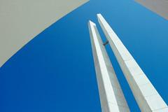 Obelisco (Antonio.AM) Tags: blue sky landscape architecture mimalist peru lima ica monument history abstract beautiful awarded white concrete
