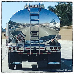 Reflections (anitablackman49) Tags: transportation freeway truck reflection
