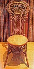 Driehaus Lady's Reception Chair (Atelier Teee) Tags: terencefaircloth atelierteee driehausmuseum chair seat rattan chicago illinois wakefieldrattanco