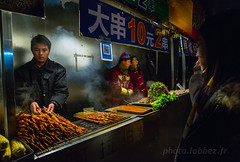 Chine, vendeur de friture à Pékin (louis.labbez) Tags: chine ville china town labbez asie asia 2017 pékin beijing street rue restaurant fumée smoke cuisine cooking restauration friture vente vendeur sale