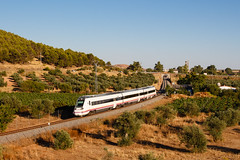 Renfe 18779 | Los Santos de Maimona (Nohab0100) Tags: espanha spain españa comboio train tren automotora dmu automotor caf nexios 598 renfe extremadura railway ferrocarril