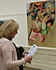 Steve des Landes Private View - Un-settled (18) (ronramstew) Tags: exhibition privateview painter paintings artist stevedeslandes birkenhead wirral merseyside williamsonartgallery january 2018 2010s unsettled oils
