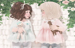 Tell me all your secrets... (Chelsea Noele Knight) Tags: annie girl friends love friendship pin mint cmc color me cute event bow ribbons