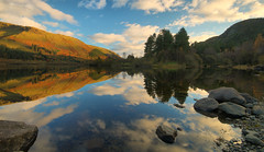 Thirlmere Reflections (Andy Watson1) Tags: thirlmere reflections lake district national park lakedistrict trees mountain mountains light shadow blue sky clouds still calm serene mirror canon 70d sigma landscape view scenery countryside reservoir scenic autumn november england cumbria uk united kingdom great britain