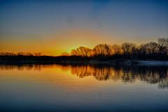 A Calm Morning on the Illinois (kendoman26) Tags: hdr nikhdrefexpro2 nikon nikond3300 tokinaatx1228prodx tokina tokina1228 sunrise daybreak illinoisriver river water reflection travelillinois enjoyillinois