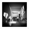Zona de pas X / Transit area X (ximo rosell) Tags: ximorosell bn blackandwhite blancoynegro bw buildings squares stairs valencia llum luz light arquitectura architecture abstract abstracció nikon d750 people