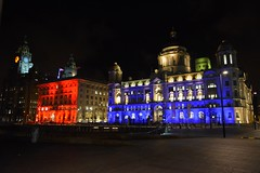 Cunard Building and Port Of Liverpool Lit Up (James O'Hanlon) Tags: red building lit up liverpool chinese new year 2018 cunard portofliverpool