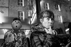 (XBeauPhoto) Tags: bricklane girl london blackwhite candid citylife fujix100f humour monochrome reflected saucy shopdummy shopfront streetcandid streetphoto streetphotography urban